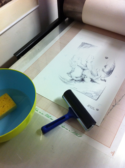printing with an intaglio press