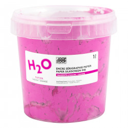 H2O silkscreen ink for paper black