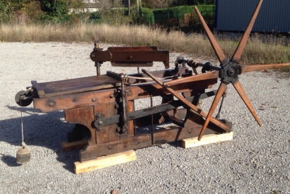 French litho hand press
